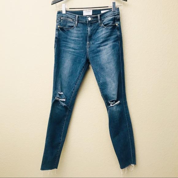 2ef820e9b12 Frame Denim Jeans | Frame Le High Skinny Distressed Raw Edge | Poshmark